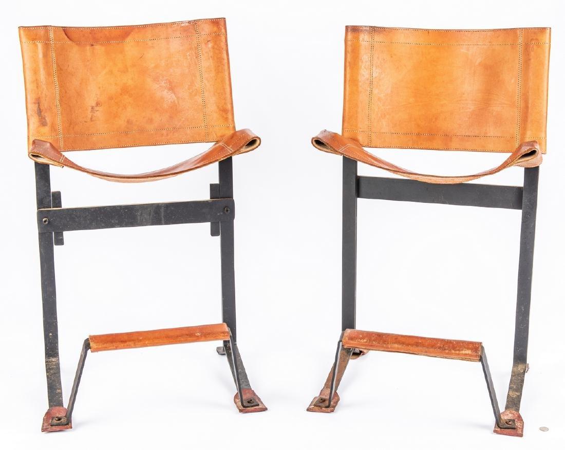 Pair Max Gottschalk Mid Century Bar stools - 3