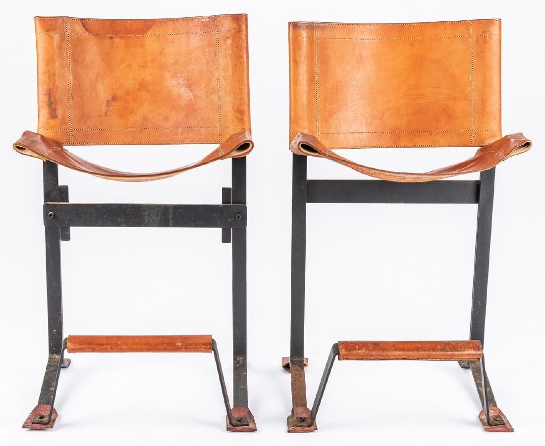 Pair Max Gottschalk Mid Century Bar stools - 4