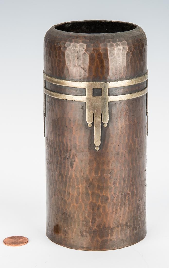 Roycroft Arts & Crafts Bronze vase - 3