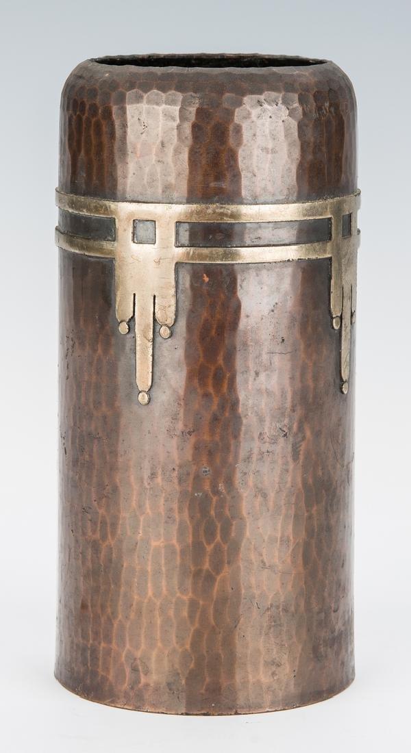 Roycroft Arts & Crafts Bronze vase - 5