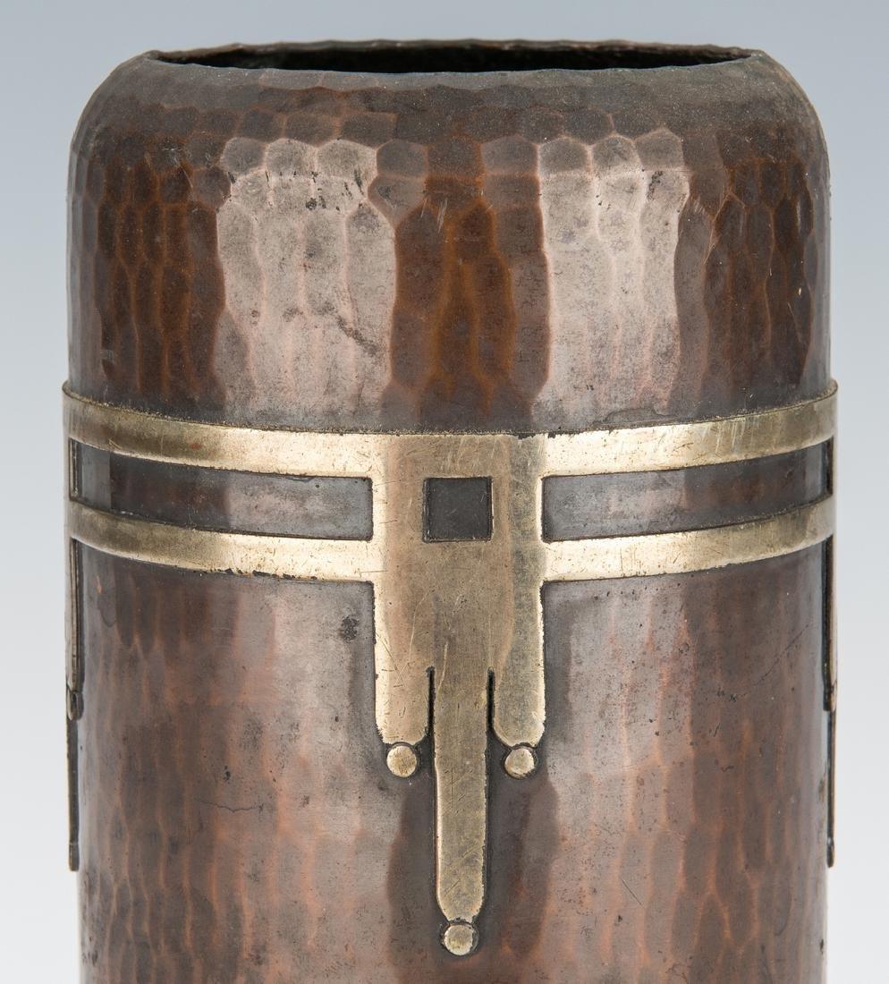 Roycroft Arts & Crafts Bronze vase - 6
