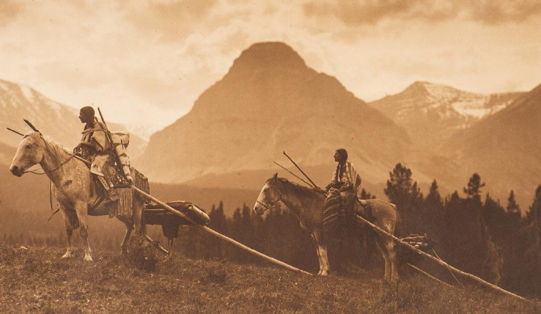 Roland Reed Indian photograph, Waiting for the Hunters - 3