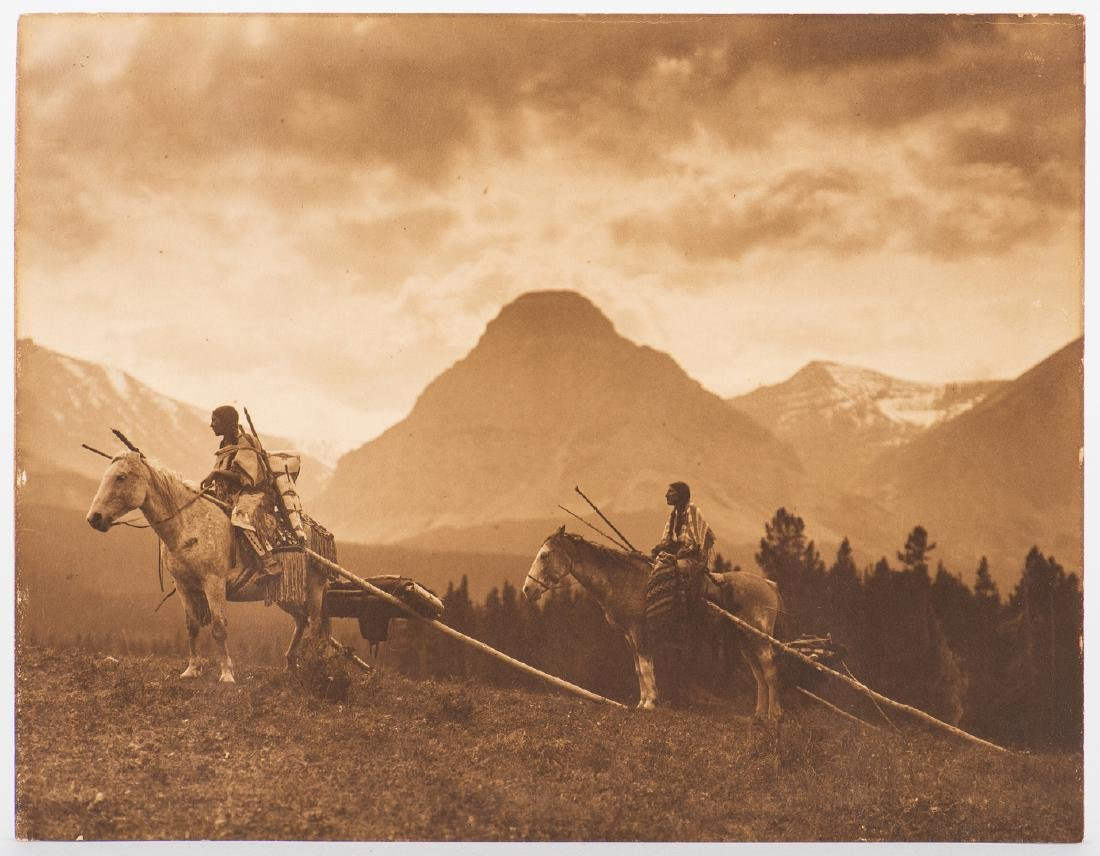 Roland Reed Indian photograph, Waiting for the Hunters - 8