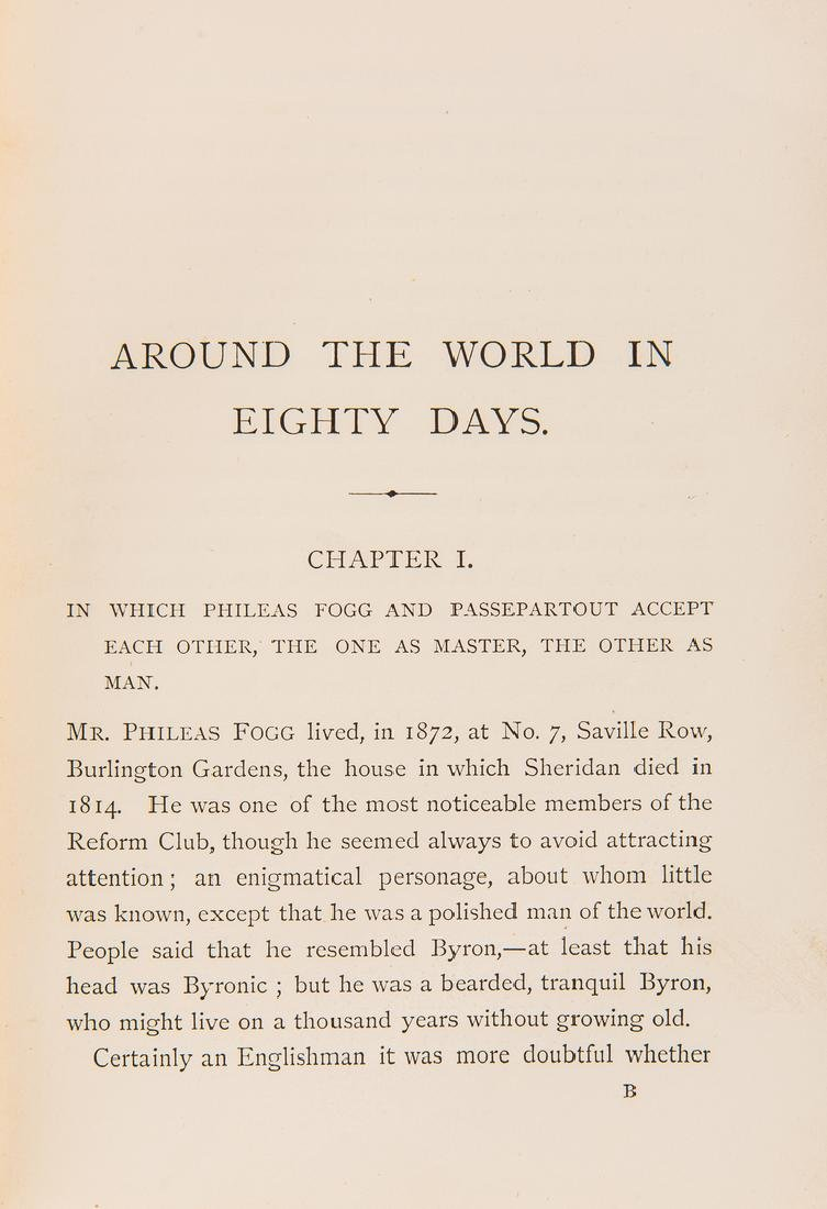 J. Verne, Around the World in Eighty Days, 1st ed., - 8