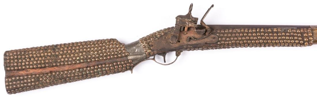 Portuguese Lazaro Lazarino Flintlock Long Rifle - 3