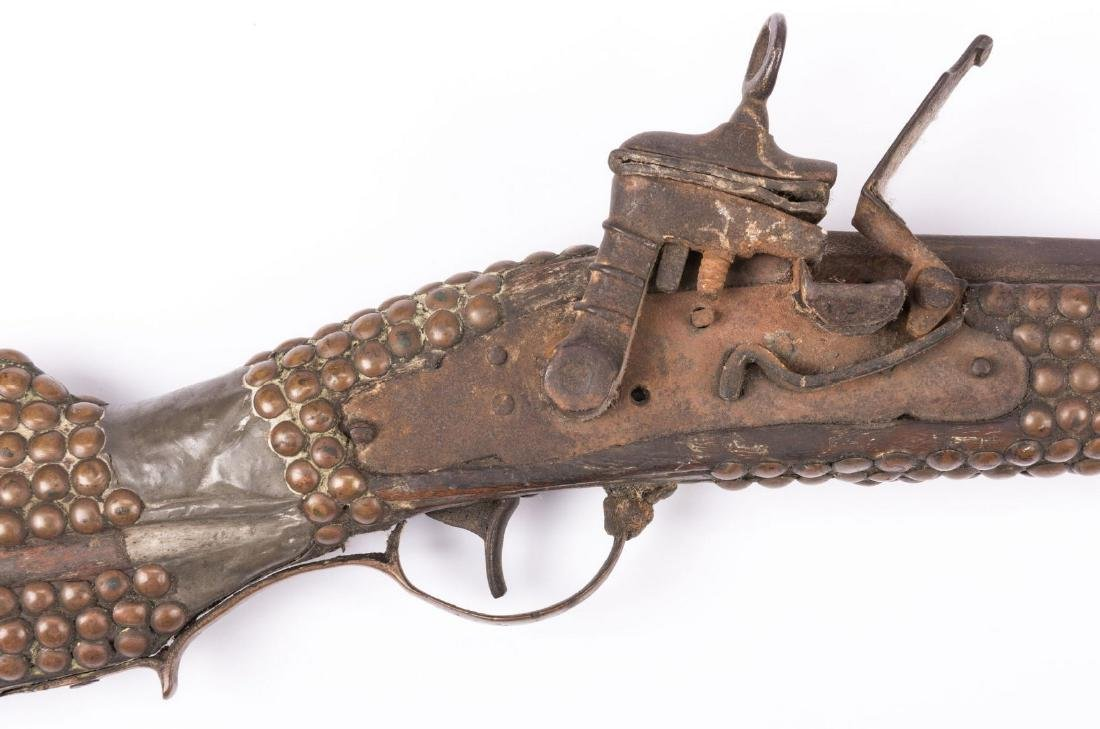Portuguese Lazaro Lazarino Flintlock Long Rifle - 4