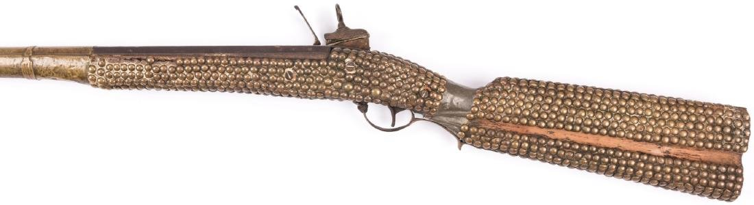 Portuguese Lazaro Lazarino Flintlock Long Rifle - 9