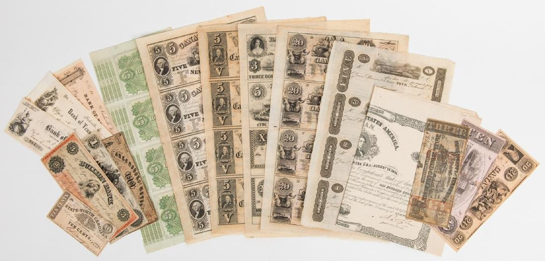17 American Currency Items, inc. uncut James Monroe