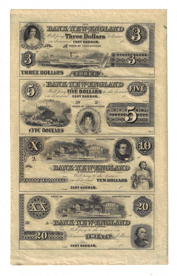 17 American Currency Items, inc. uncut James Monroe - 7