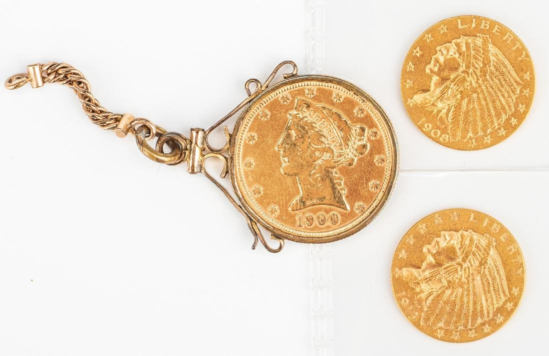 3 Small gold coins