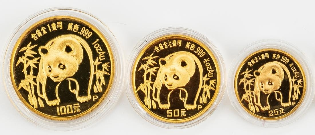 1986 Chinese 5-Coin Gold Panda Proof Set - 2