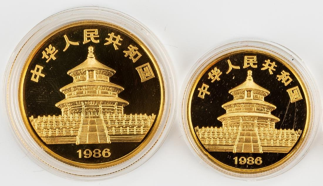 1986 Chinese 5-Coin Gold Panda Proof Set - 4