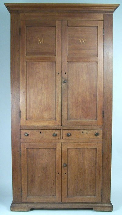 11: Early Southern inlaid cupboard Overton County, TN