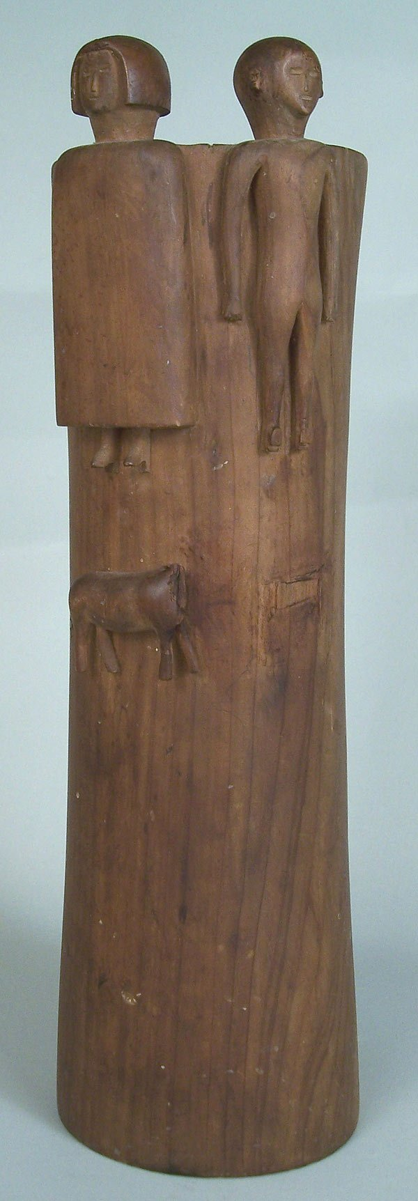 14: Middle Tennessee folk art carving of man and woman