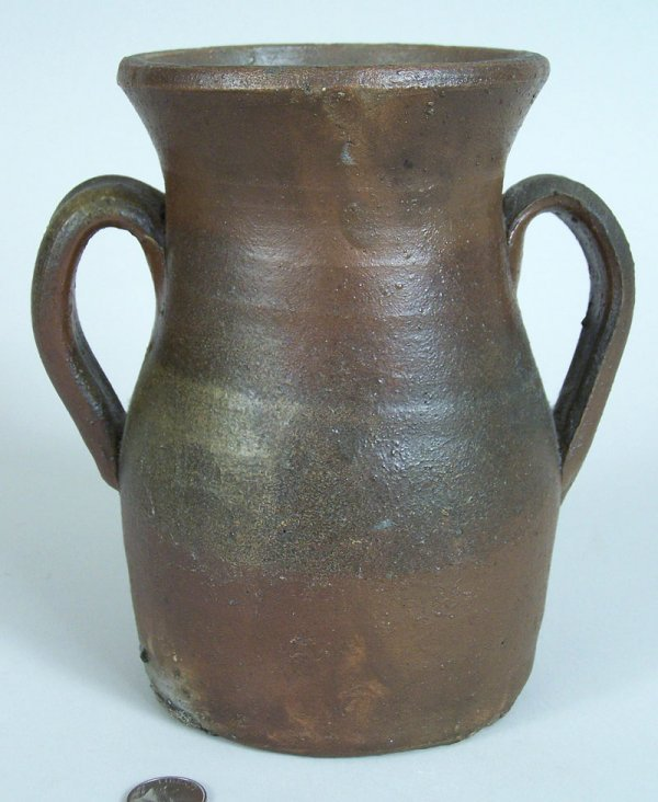 17: Middle Tennessee stoneware jar, small urn form