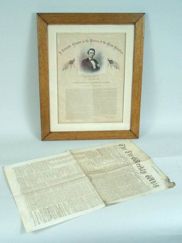 23: Parson Brownlow Civil War broadside and newspaper