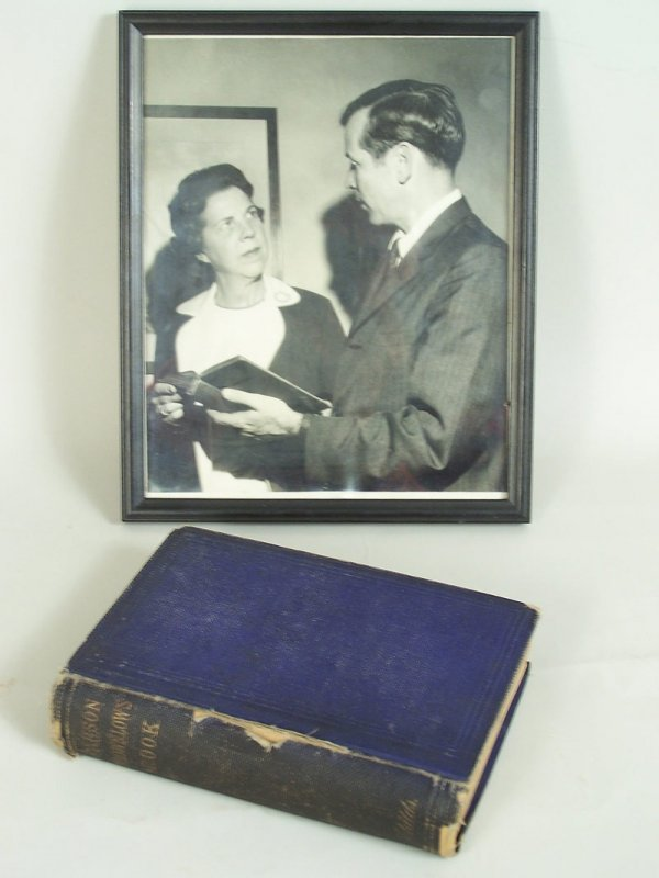 24: Parson Brownlow's Book, autographed W.G. Brownlow