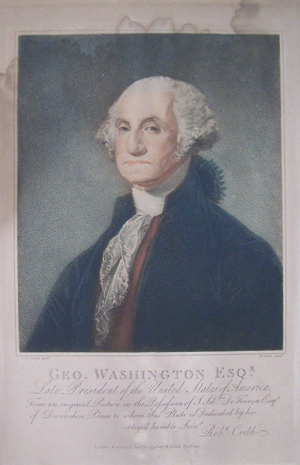 28: Engraving of George Washington after Gilbert Stuart