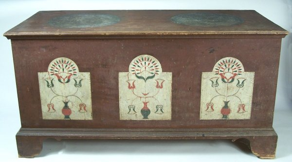 70:  Exceptional decorated Virginia chest, Wythe County