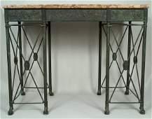 An important and rare Oscar Bach table & mirror