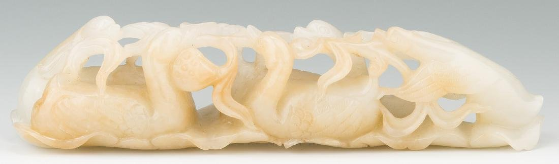 Chinese Carved Jade Figural Brush Rest