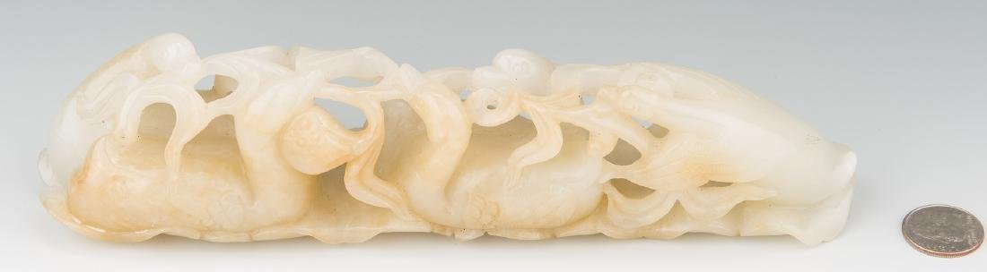 Chinese Carved Jade Figural Brush Rest - 2