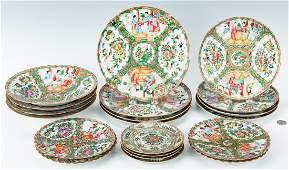 Chinese Export Rose Medallion Porcelain, 20 pcs.