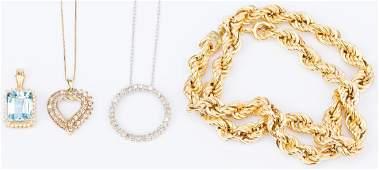 4 items Ladies Gold, Diamond Jewelry