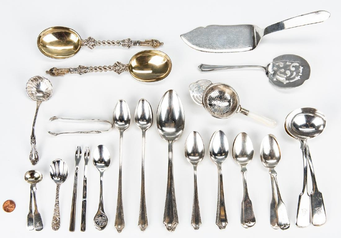 32 assorted Sterling Flatware & more