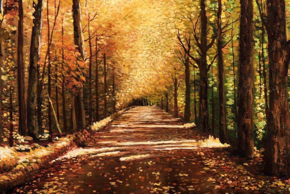 American School Fall Landscape, Signed - 8