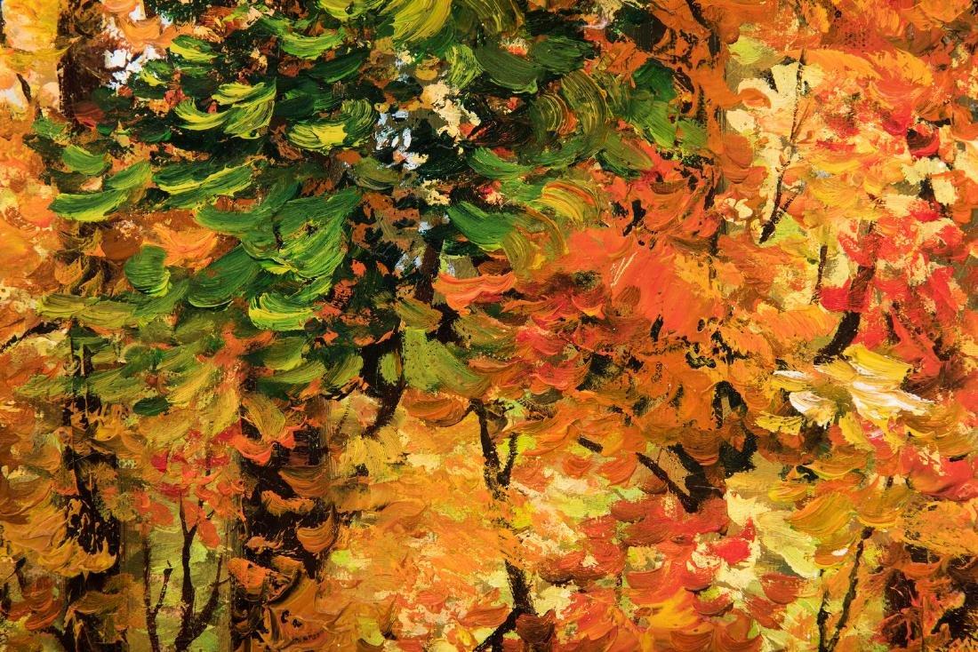 American School Fall Landscape, Signed - 9