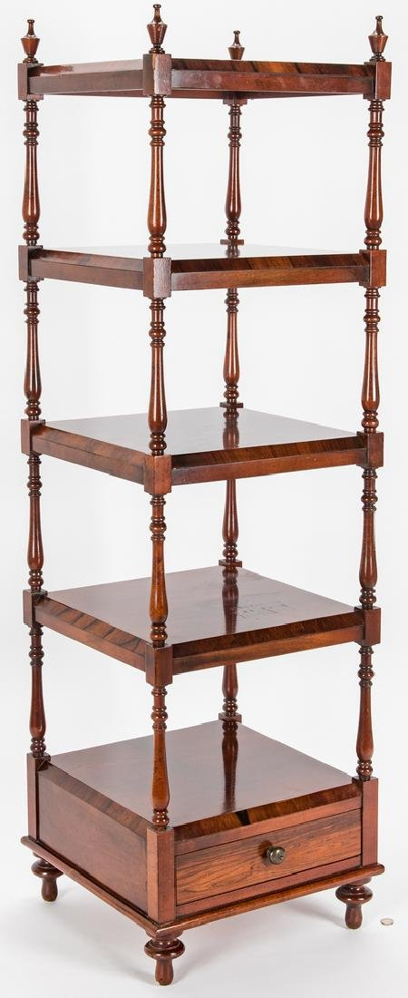 English Regency Style Rosewood Etagere