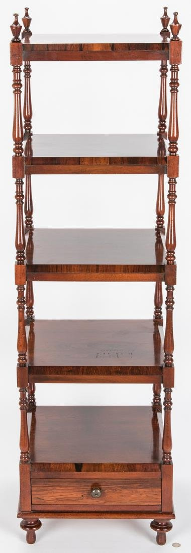 English Regency Style Rosewood Etagere - 2