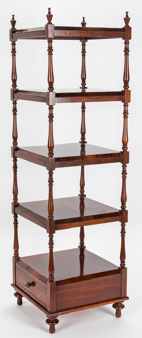 English Regency Style Rosewood Etagere - 3