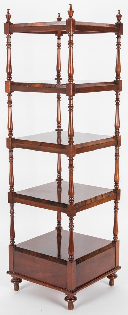 English Regency Style Rosewood Etagere - 5