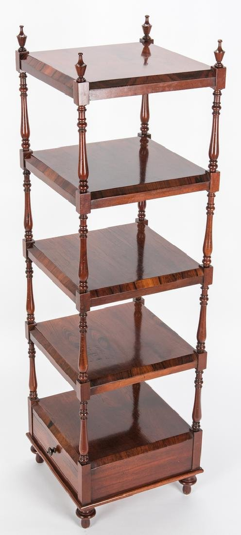 English Regency Style Rosewood Etagere - 6