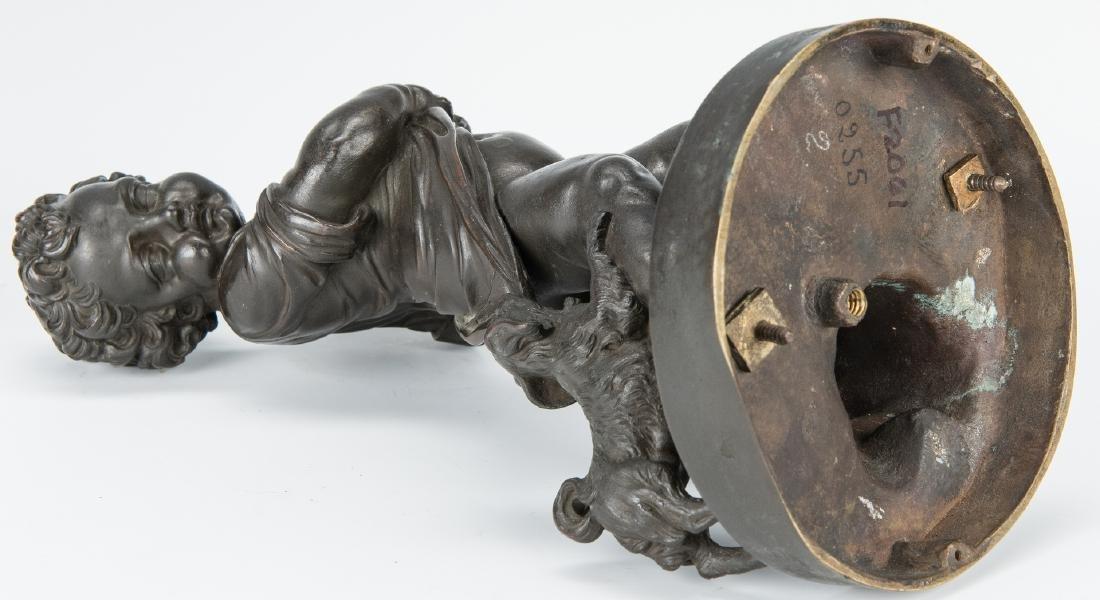 Pair French Bronze Putti Figurals - 10