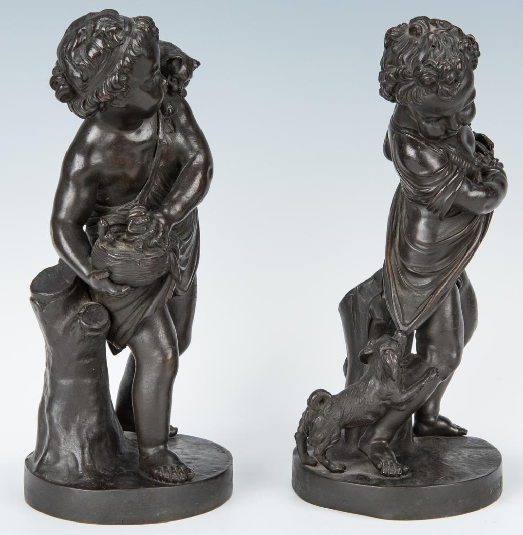 Pair French Bronze Putti Figurals - 2