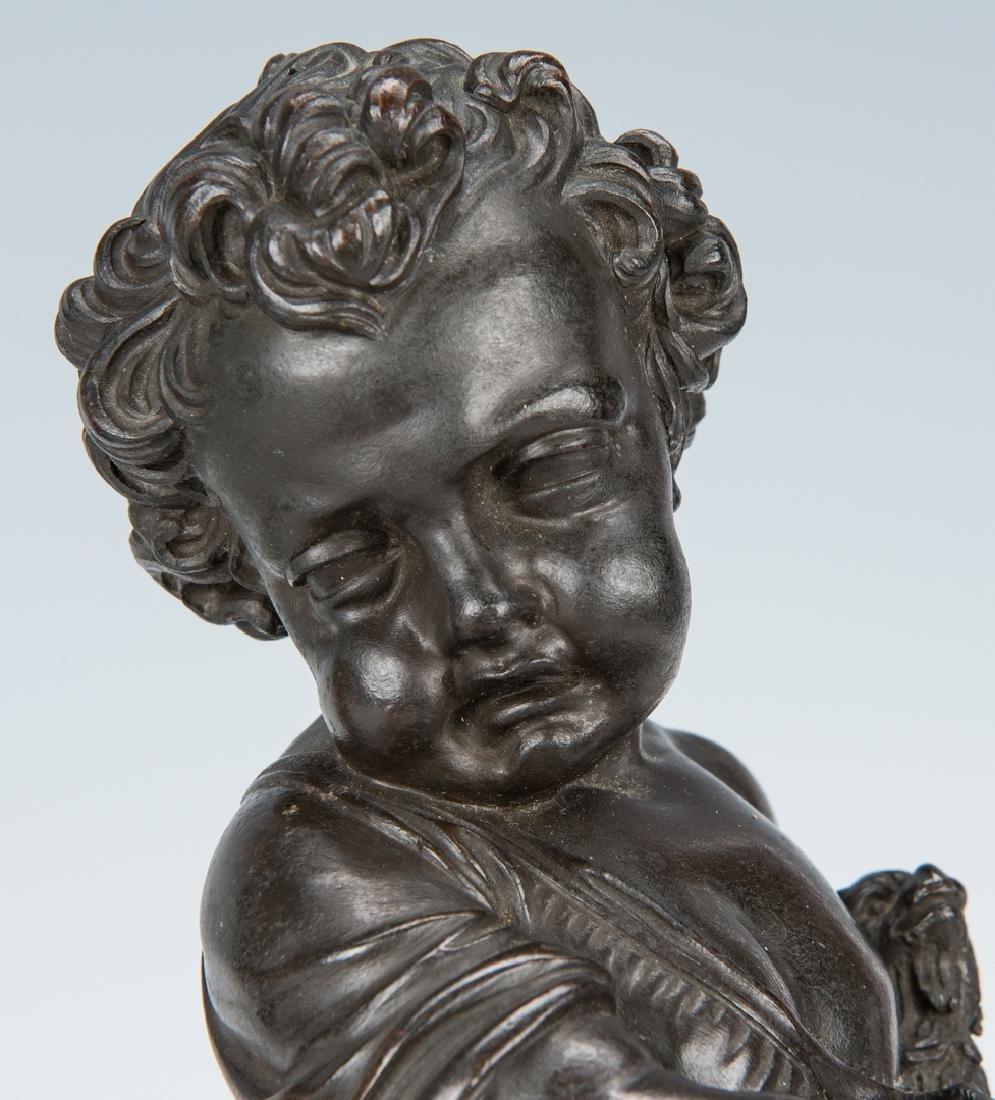 Pair French Bronze Putti Figurals - 6
