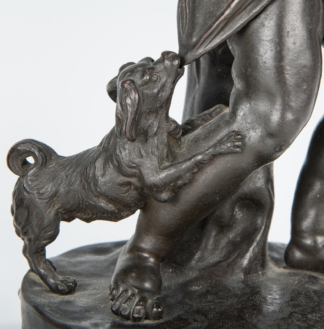 Pair French Bronze Putti Figurals - 7