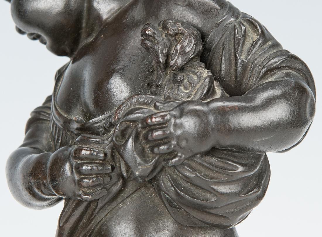 Pair French Bronze Putti Figurals - 8