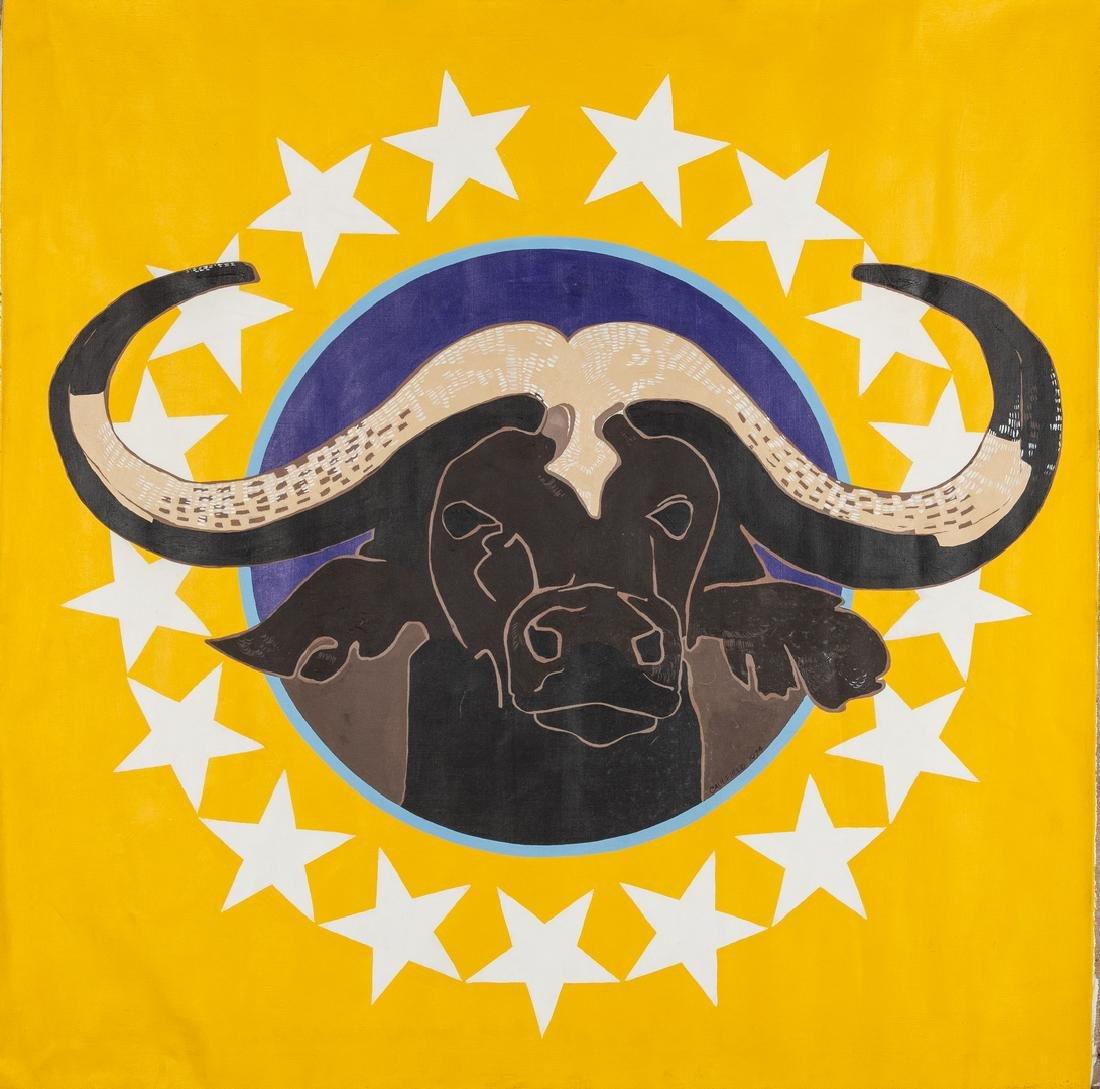 James Caulfield Water Buffalo Painting