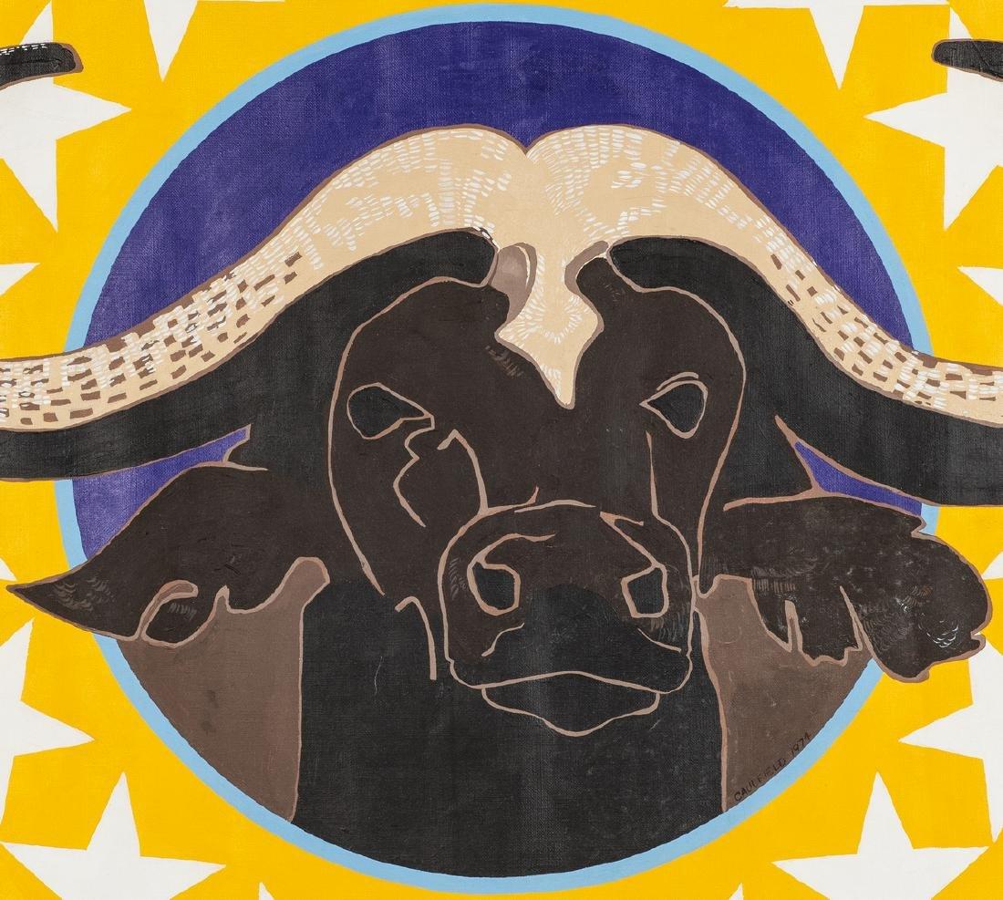 James Caulfield Water Buffalo Painting - 3