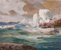Angel Espoy Oil on Canvas Seascape
