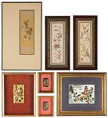 7 Asian Framed Decorative Items