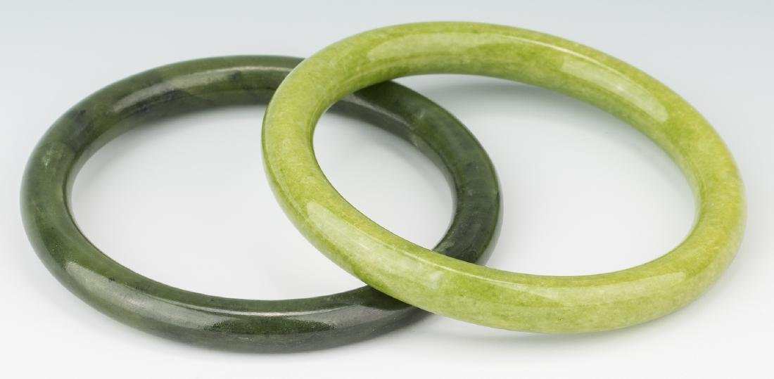5 Chinese Carved Jade Bangles - 4
