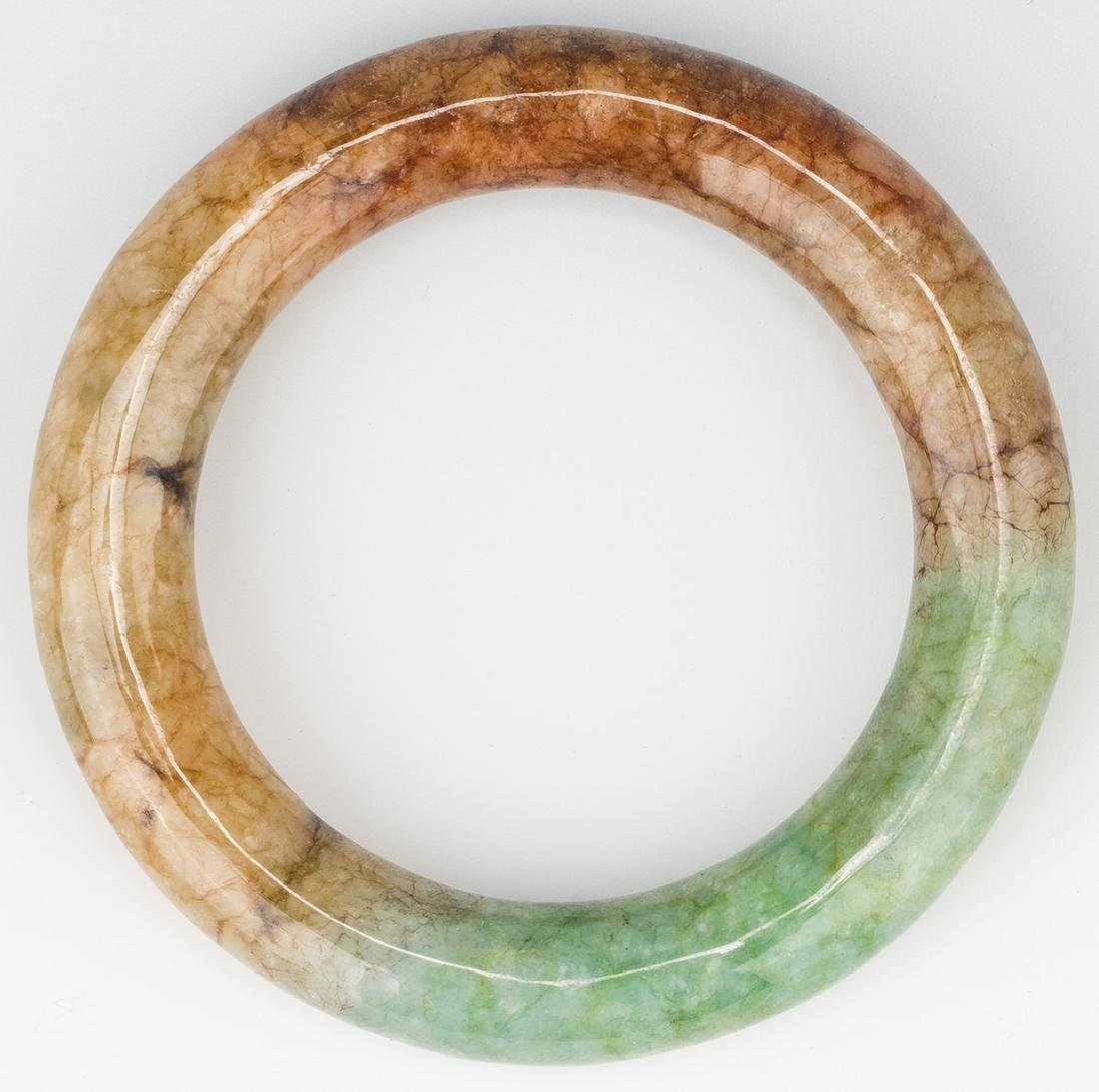5 Chinese Carved Jade Bangles - 5