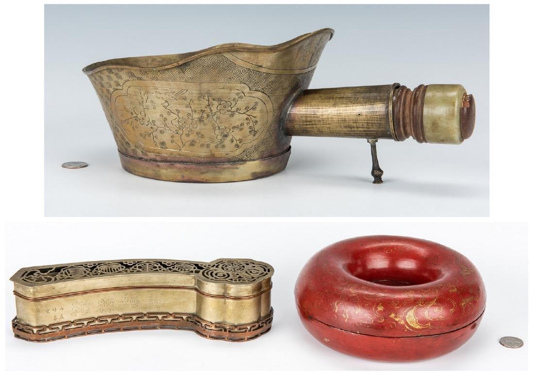 3 Chinese Decorative Items, inc. Bronze