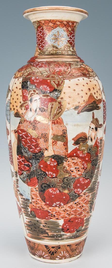 2 Japanese Satsuma Pottery Vases - 2