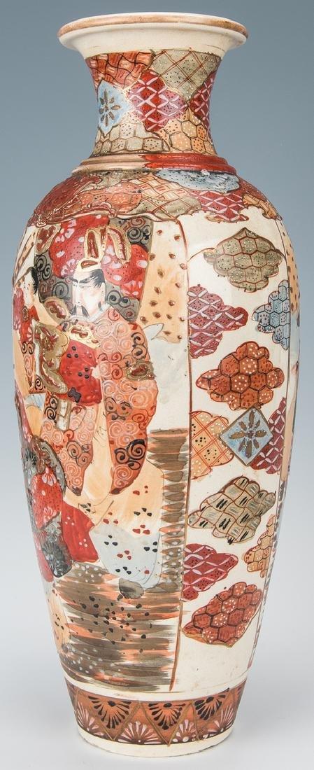 2 Japanese Satsuma Pottery Vases - 4